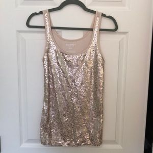 Old Navy Champagne sequin tank top size M